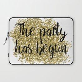 The party has begun - golden jazz Laptop Sleeve
