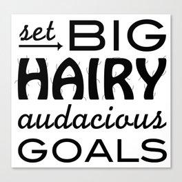 Set Big Hairy Audacious Goals Canvas Print