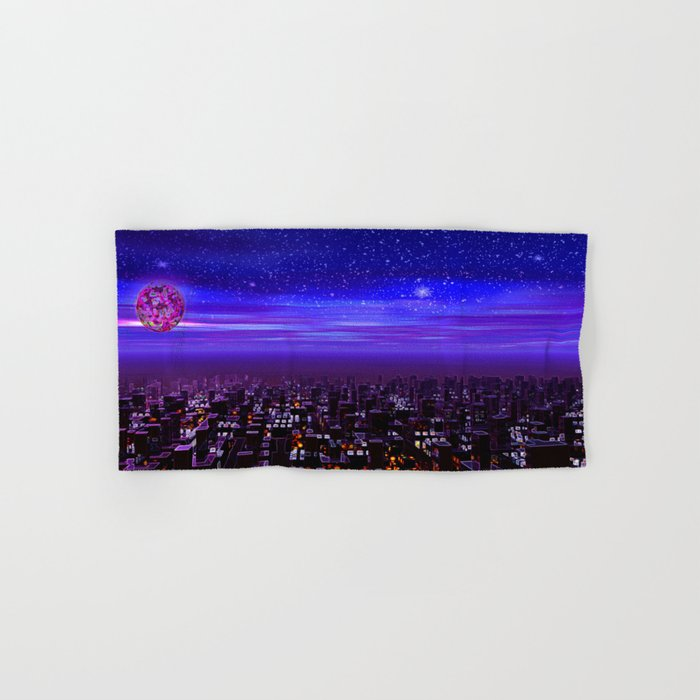 Spaceport Sunset Hand & Bath Towel