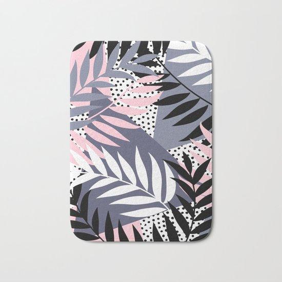 Palms on Polka Dots Bath Mat