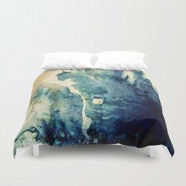 Modern Contemporary Abstract Blue Zen Design Duvet Cover