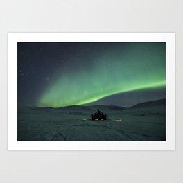 Dovrefjell Northern Lights Art Print