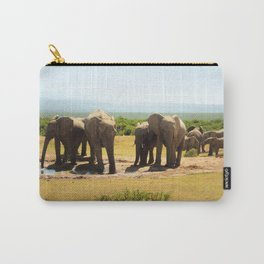 Elephants at the waterhole Carry-All Pouch