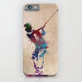 Golf player art 1 iPhone Case