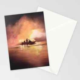 Marina Boat Fire - Fire Series Stationery Cards