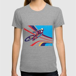 retro track cycling poster print G Force T-shirt