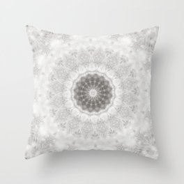 Silver and lace... Throw Pillow