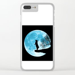 Moon Bunny Clear iPhone Case