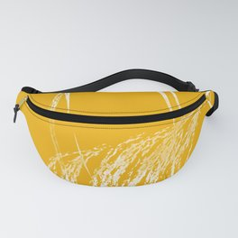 Yellow Grass - Minimal Nature Art Fanny Pack