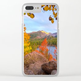 Fall In The Rocky Mountains Clear iPhone Case