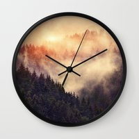 grunge Wall Clocks featuring In My Other World by Tordis Kayma