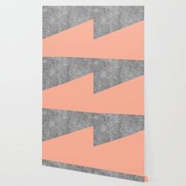 Geometry 101 Sweet Peach Pink Wallpaper