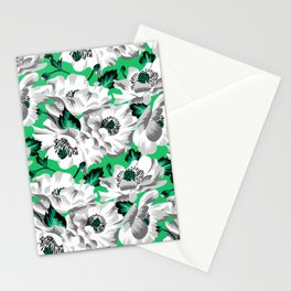 Mount Cook Lily - Green/White Stationery Cards