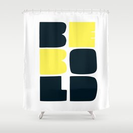 Be Bold in Black and Lemon Yellow Shower Curtain