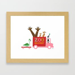 Zoo Delivery 2 Framed Art Print