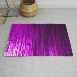 Bright texture of shiny foil of pink flowing waves on a dark fabric. Rug
