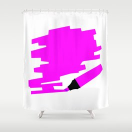 Purple Marker Copy Space Shower Curtain