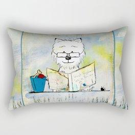West Highland White Terrier ~ Westie ~ Sophisticated Wally ~ Ginkelmier Rectangular Pillow
