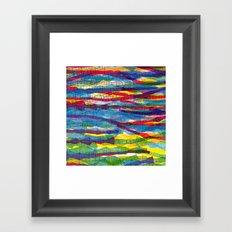 stripes traffic Framed Art Print