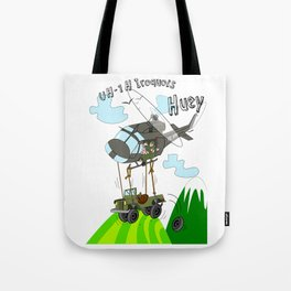 UH-1H Huey Helicopter Tote Bag