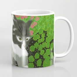 Cat In The Garden Coffee Mug