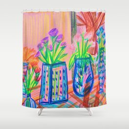 Flowers at Dawn Shower Curtain