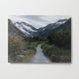 Trail to Byron Glacier, Chugach National Forest, Alaska Metal Print