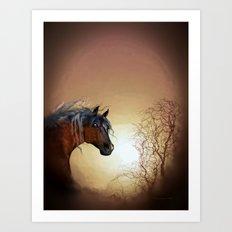 HORSE - Misty Art Print