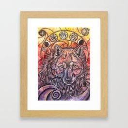 Golden I Framed Art Print
