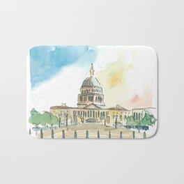 Washington DC Capitol At Sunset Bath Mat