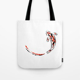 Black and Red Koi Fish Tote Bag
