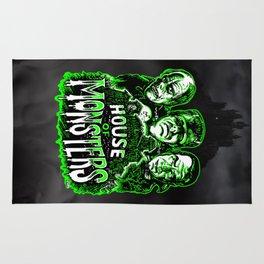 House of Monsters Phantom Frankenstein Dracula classic horror Rug