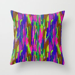 Rainbow Eucalyptus Tree Bark No. 2 Throw Pillow