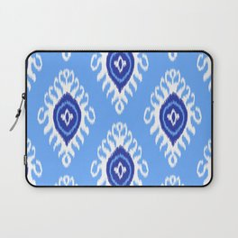 IKAT pattern 02, blue Laptop Sleeve