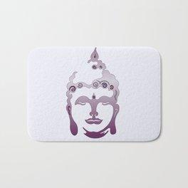 Buddha Head violet - grey Bath Mat