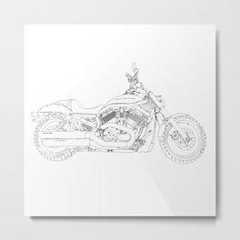 cycle drawing, vr Metal Print