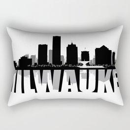 Milwaukee Silhouette Skyline Rectangular Pillow