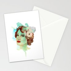 retro woman 2 Stationery Cards