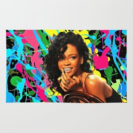 Rihanna - Celebrity Art Rug