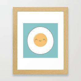Kawaii Cute Fried Eggs Breakfast Framed Art Print