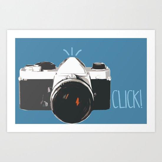 Click! - camera Art Print