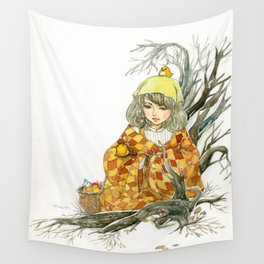 Winter Story Time in the Forest Wall Tapestry