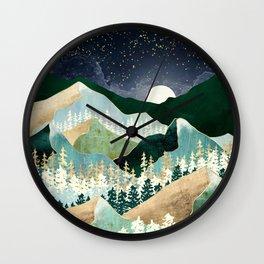 Spring Night Vista Wall Clock