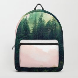 Watercolor mountain landscape Backpack