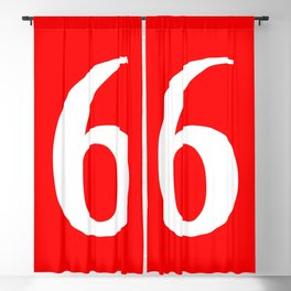 6 (WHITE & RED NUMBERS) Blackout Curtain