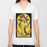 deco V-neck T-shirts featuring Deco Delight by Moonlake Designs