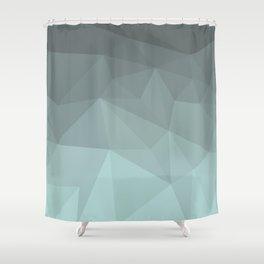 Light Steel Blue Polygon Shower Curtain