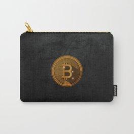 Black Bitcoin art Carry-All Pouch