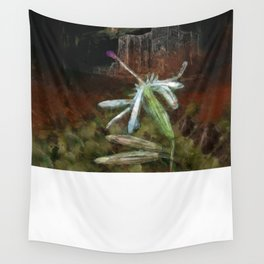 The Nottingham Catchfly (Silene nutans) ~ Flowers of the Night Wall Tapestry