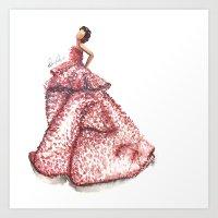 Slight Arc Watercolor Fashion Illustration Art Print